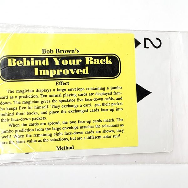 Behind Your Back Improved-Bob Brown