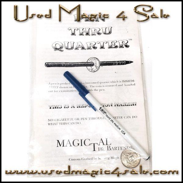Pen Through Quarter-Magic Al The Bartender