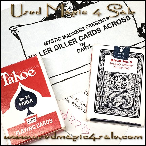 Killer Diller Cards Across-Daryl
