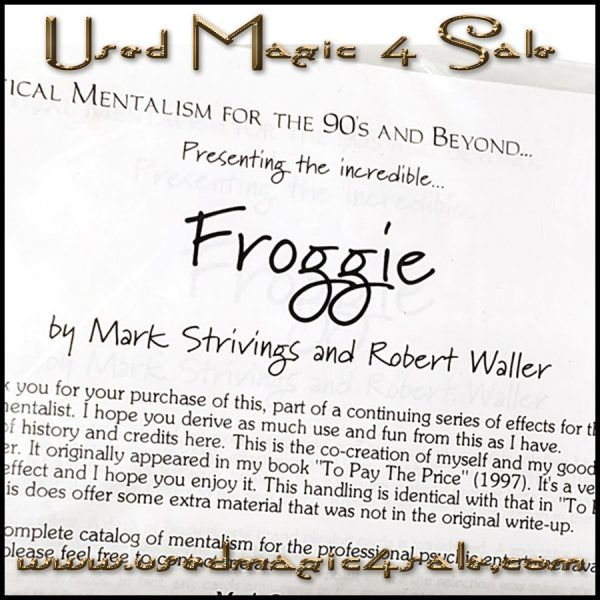 Froggie-Mark Striving & Robert Waller