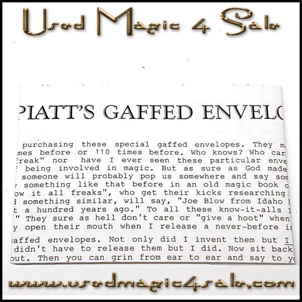Piatts Gaffed Envelope